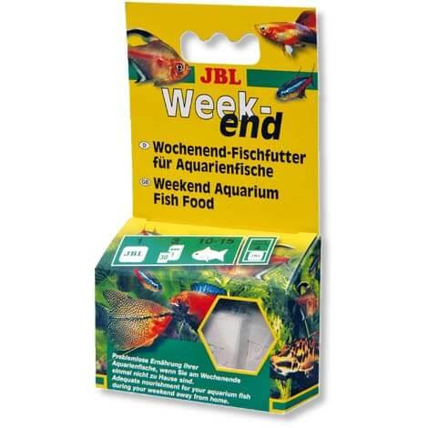 nourriture pour poissons en vacances jbl weekend