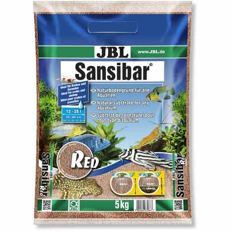 JBl Sansibar Red substrat de sol pour aquarium 5kg