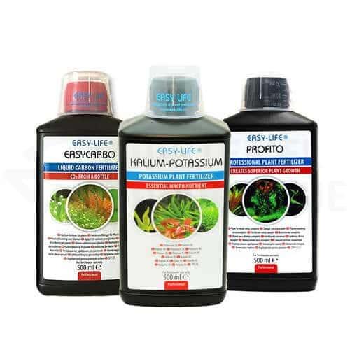 kit easy-life kalium potassium, profito et carbo 500 ml engrais plantes aquarium