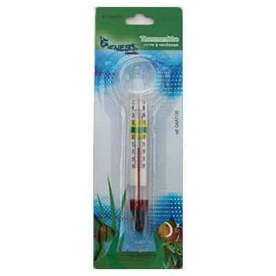 Thermomètre en verre fixation ventouse aquarium