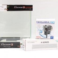 kit nano aquarium cocoon 2 avec éclairage chihiros et filtre niagara 190
