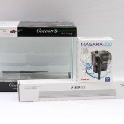 nano aquarium kit cocoon 5 avec rampe chihiros et filtre niagara