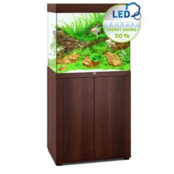 aquarium Juwel Lido 200 Led avec meuble bois brun