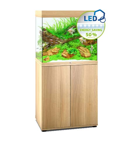 aquarium Juwel Lido 200 Led avec meuble bois clair