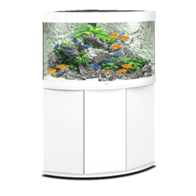 aquarium Juwel Trigon 190 Led avec meuble blanc