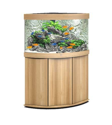 aquarium Juwel Trigon 190 Led avec meuble bois clair