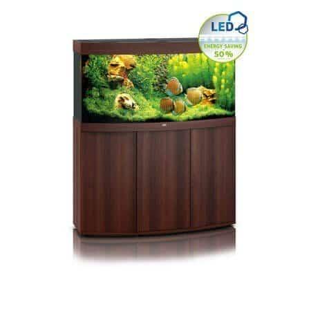 Aquarium Juwel vision 260 led avec meuble bois brun