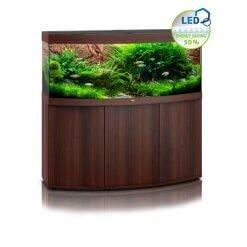 Aquarium Juwel vision 450 avec meuble bois brun