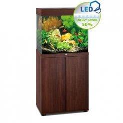 aquarium Juwel Lido 120 Led avec meuble bois brun