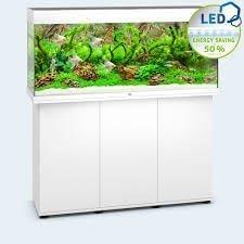 aquarium juwel rio 240 led avec meuble blanc