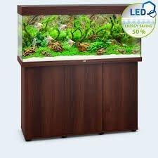 aquarium juwel rio 240 led avec meuble bois brun