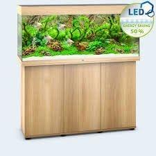 aquarium juwel rio 240 led avec meuble bois clair