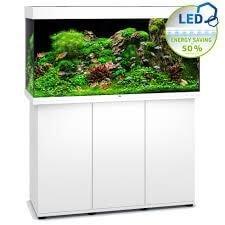 aquarium juwel rio led 350 avec meuble blanc
