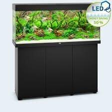aquarium juwel rio led 350 avec meuble noir