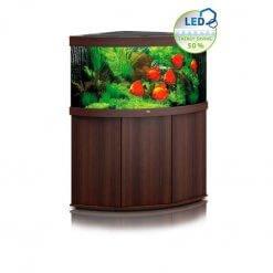 aquarium juwel trigon 350 litres avec meuble bois foncé