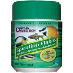 Ocean nutrition spirulina flakes 70g nourriture pour poissons