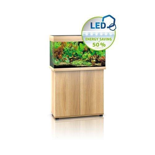 aquarium juwel rio 125 led avec meuble bois clair