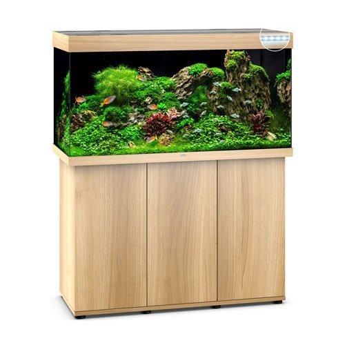 Juwel Rio 350 bois clair led avec meuble aquarium 350l