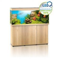 Aquarium Juwel Rio 450 Led avec meuble bois clair