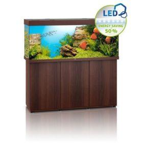 aquarium juwel rio 450 avec meuble bois brun