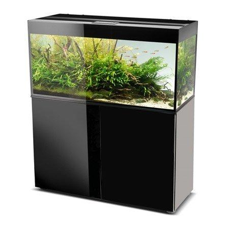 aquarium aquael glossy 120 noir 260 litres