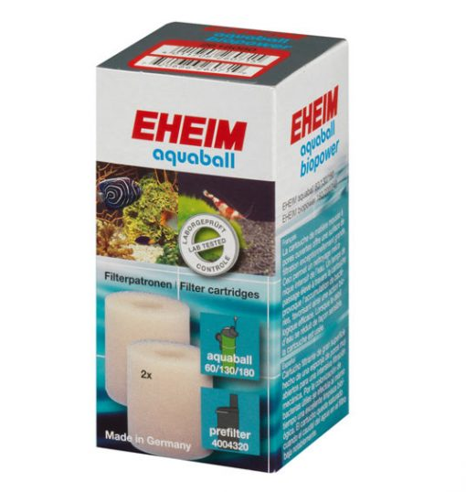 mousses blanches filtrantes blanches pour filtre eheim aquaball et biopower