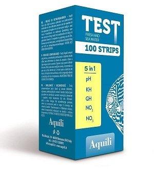 100 bandelettes test d'eau Aquili test 5 en 1
