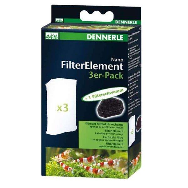 3 cartouches de recharge mousse filtrante filtre dennerle nano eckfilter