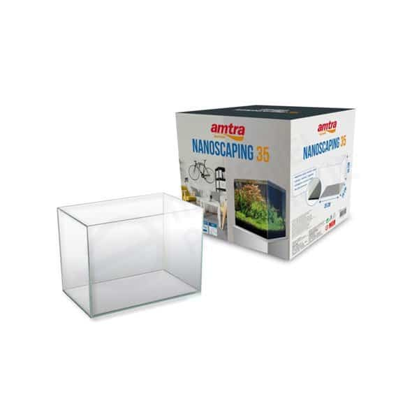 Amtra nanoscaping 35 aquarium ultraclear optiwhite cube