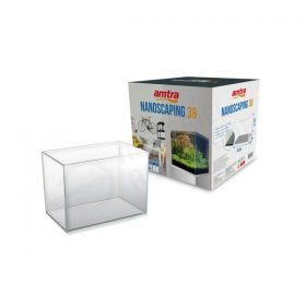 Amtra nanoscaping 35 aquarium 36 ultraclear optiwhite cube