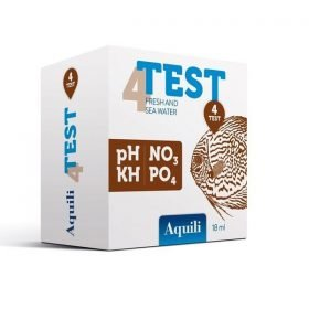 Aquili Test 4 en 1 : pH, No3, Kh, Po4
